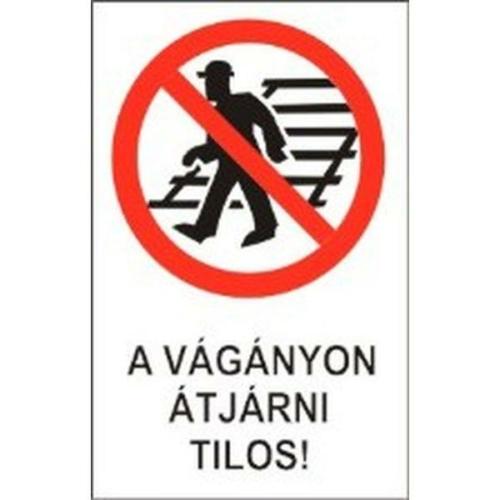 A vágányon átjárni tilos! -