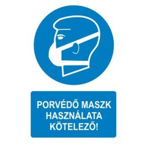 Porvédő maszk használata kötelező!