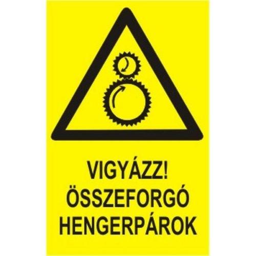 Vigyázz!Összeforgó hengerpárok!