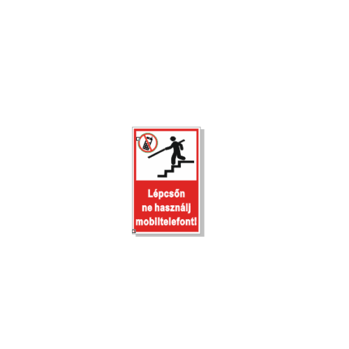 Lépcsőn ne használj mobiltelefont