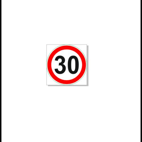 Sebességkorlátozó tábla, 30 km/h