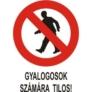 Kép 1/3 - Gyalogosok számára tilos!